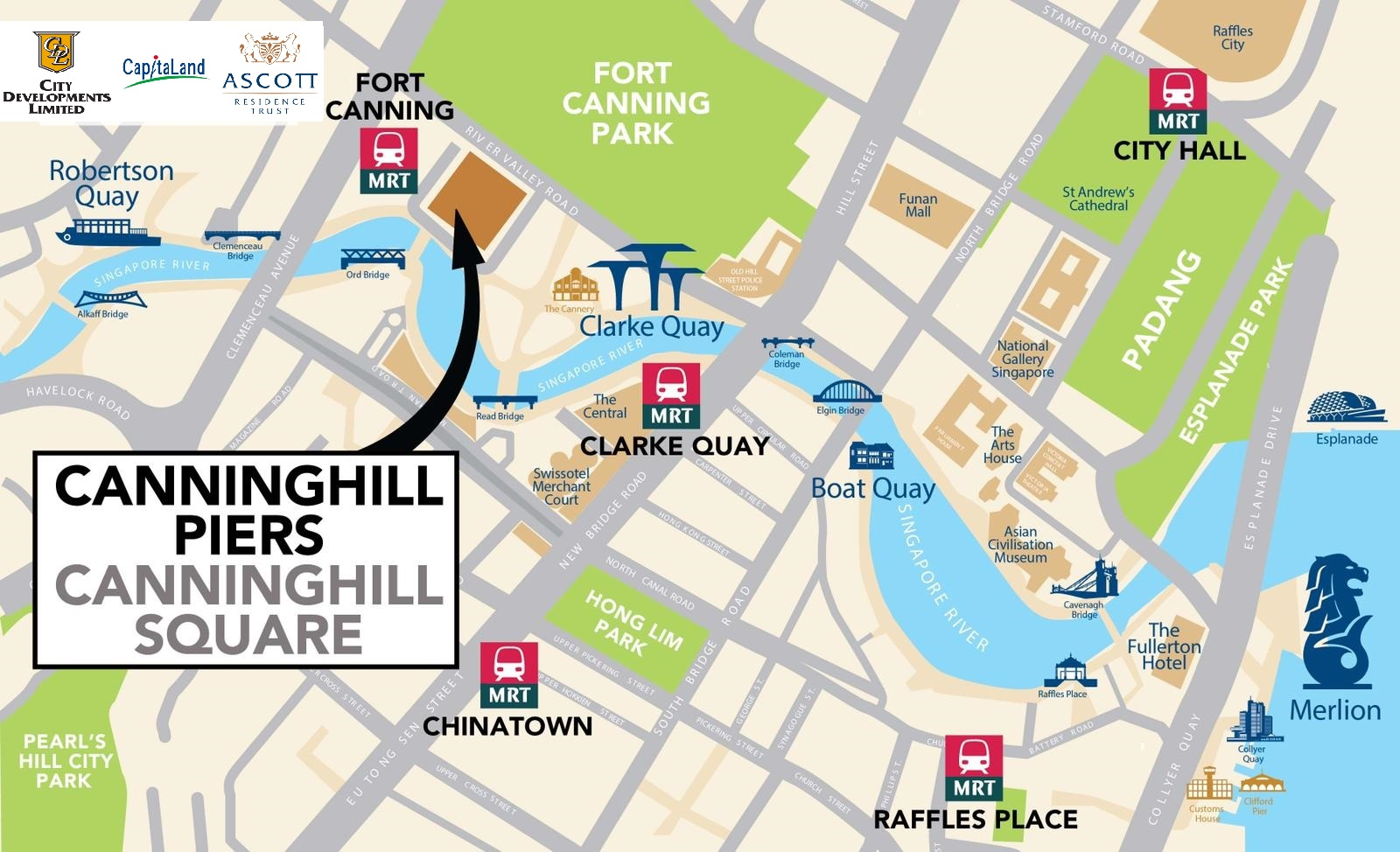 canninghill piers location map