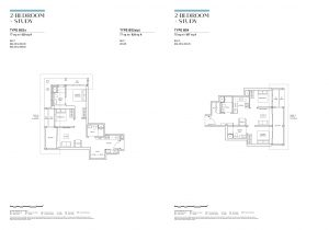 canninghill piers 2 bedroom study layout